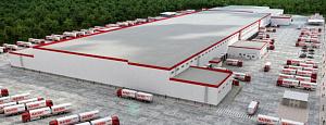 Логистический центр «Магнит» в Кемеровской области построен с применением каменной ваты ТЕХНОНИКОЛЬ