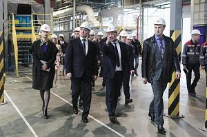 Борис Дубровский посетил производство каменной ваты на Челябинском «Заводе ТЕХНО»